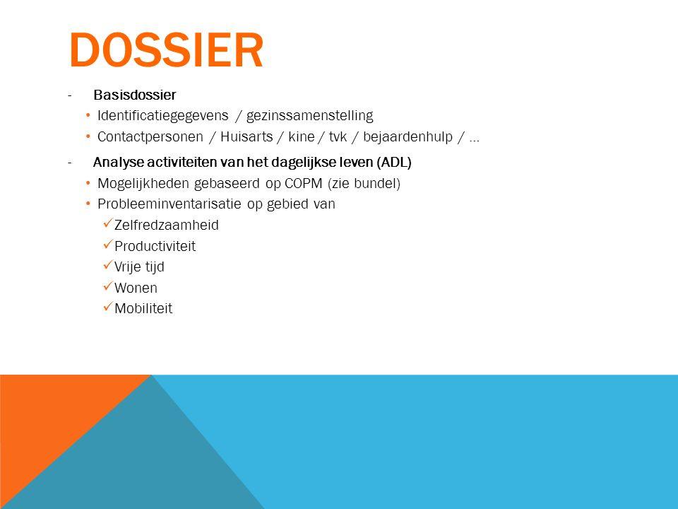 dossier Basisdossier Identificatiegegevens / gezinssamenstelling