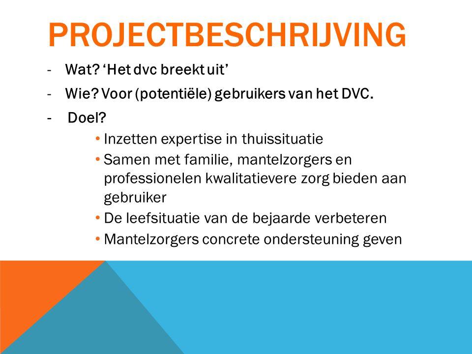 Projectbeschrijving Wat 'Het dvc breekt uit'