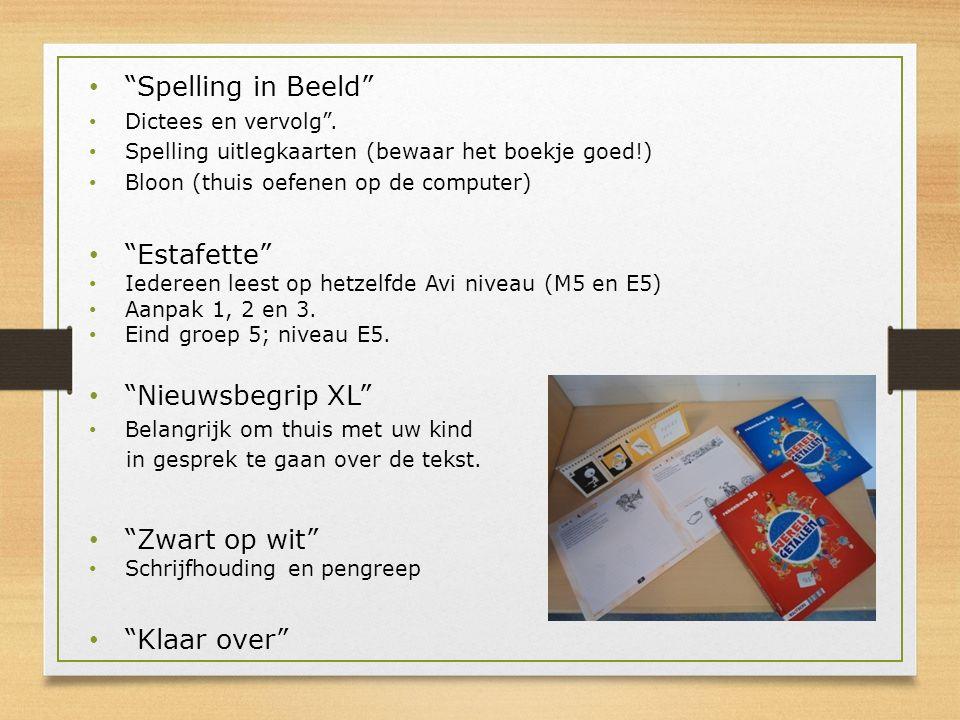 Spelling in Beeld Estafette Nieuwsbegrip XL Zwart op wit