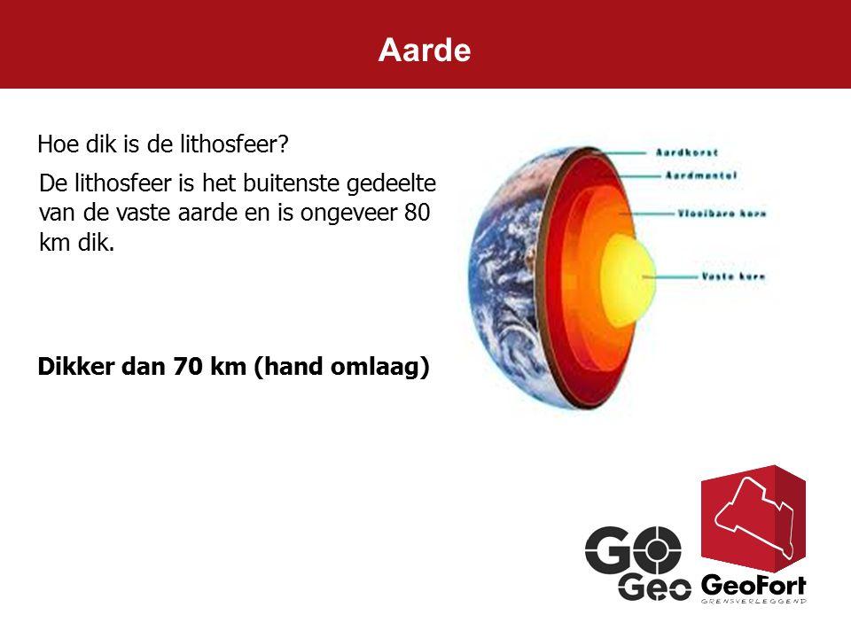 Aarde Hoe dik is de lithosfeer