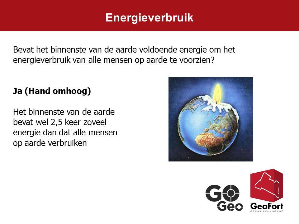 Energieverbruik Bevat het binnenste van de aarde voldoende energie om het energieverbruik van alle mensen op aarde te voorzien