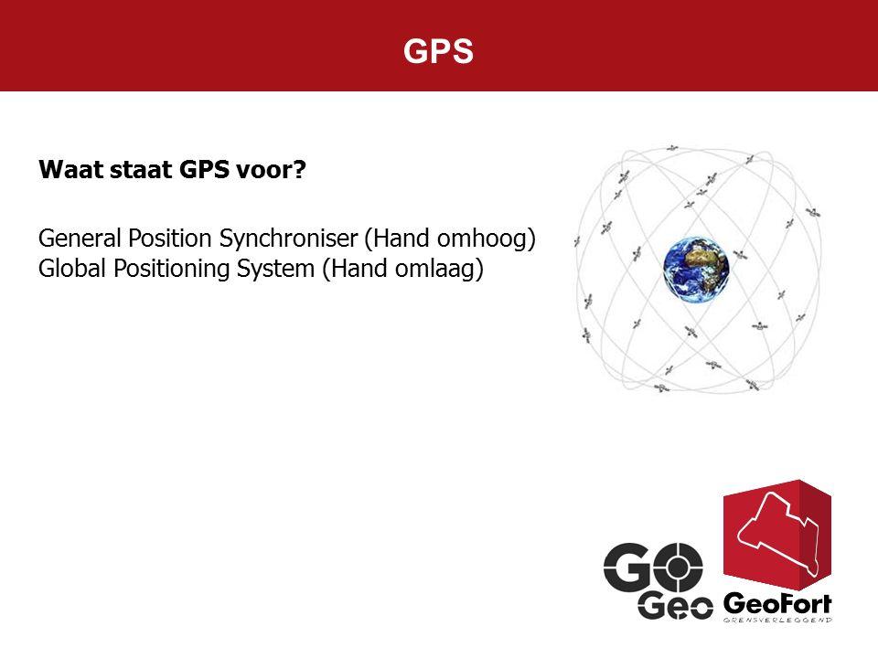 GPS Waat staat GPS voor General Position Synchroniser (Hand omhoog)