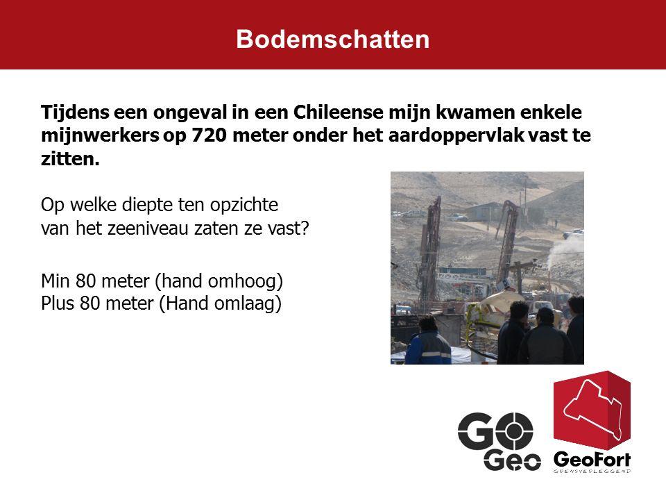 Bodemschatten Tijdens een ongeval in een Chileense mijn kwamen enkele mijnwerkers op 720 meter onder het aardoppervlak vast te zitten.