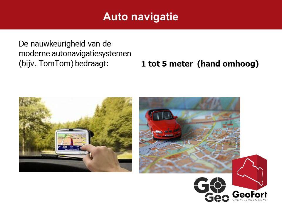 Auto navigatie De nauwkeurigheid van de moderne autonavigatiesystemen (bijv.