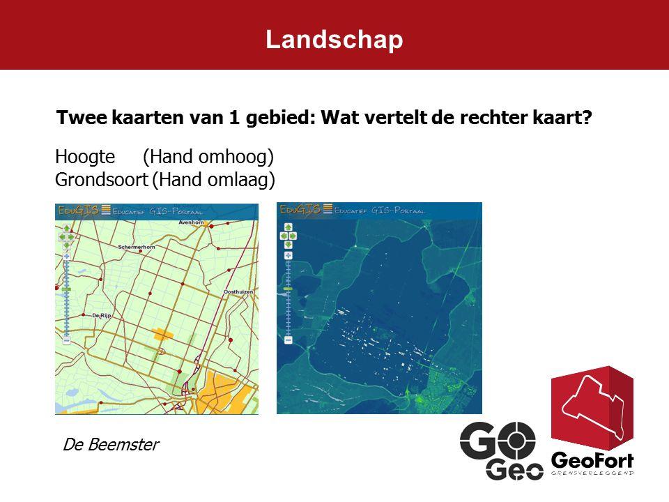 Landschap Twee kaarten van 1 gebied: Wat vertelt de rechter kaart