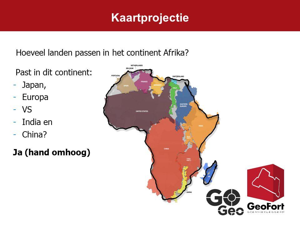 Kaartprojectie Hoeveel landen passen in het continent Afrika