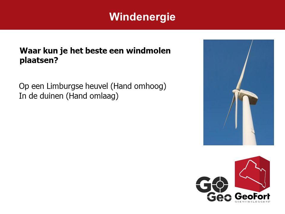 Windenergie Waar kun je het beste een windmolen plaatsen