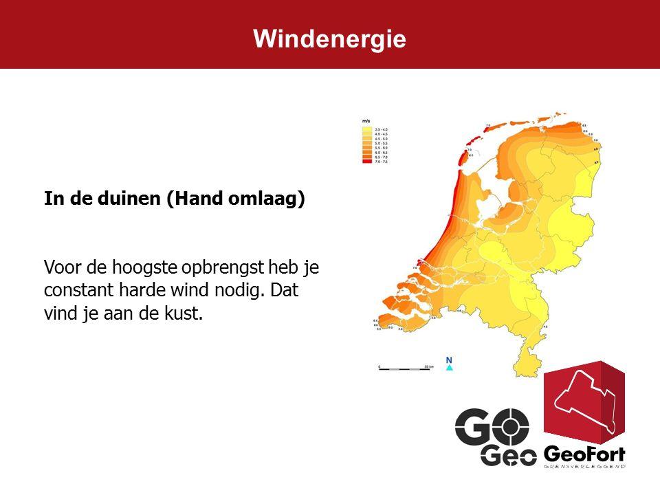 Windenergie In de duinen (Hand omlaag)