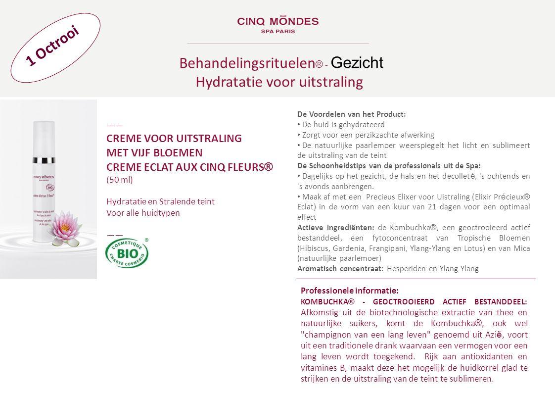 Behandelingsrituelen® - Gezicht Hydratatie voor uitstraling