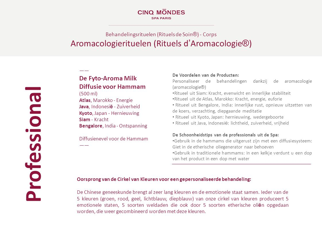 Professional Aromacologierituelen (Rituels d'Aromacologie®)