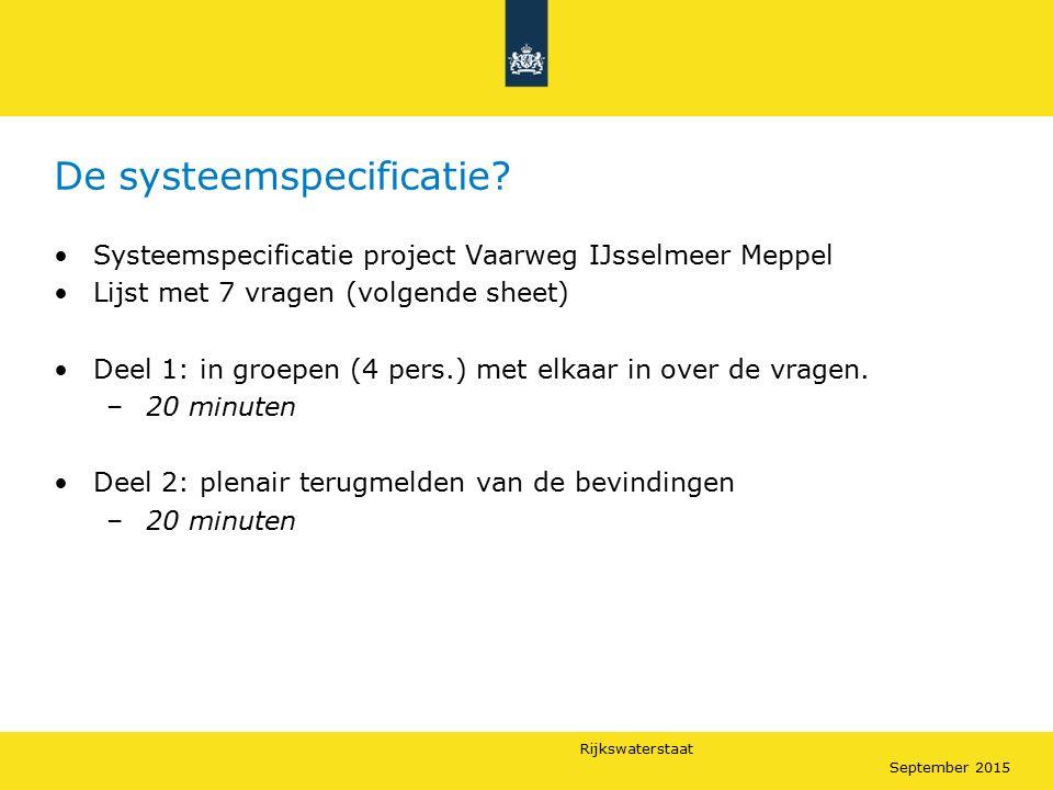 De systeemspecificatie