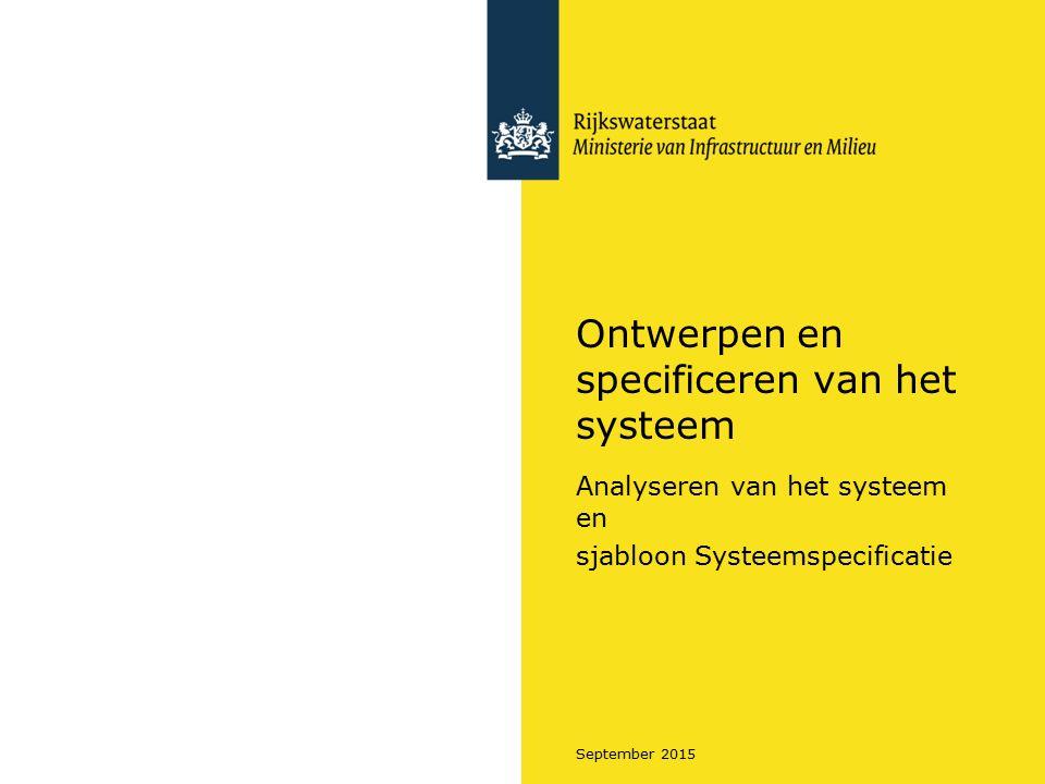 Ontwerpen en specificeren van het systeem