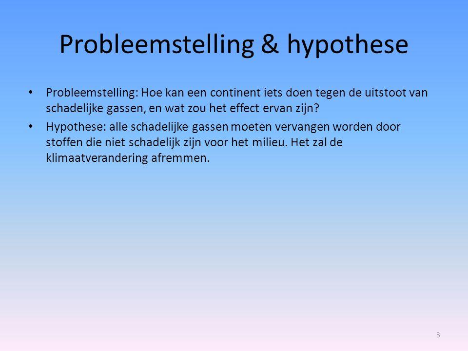 Probleemstelling & hypothese
