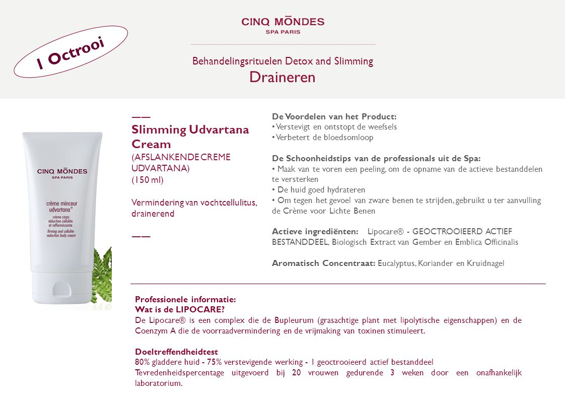 Behandelingsrituelen Detox and Slimming