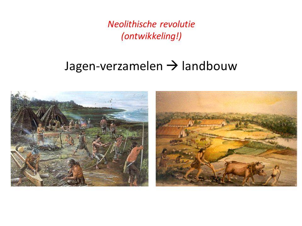 Neolithische revolutie (ontwikkeling!)