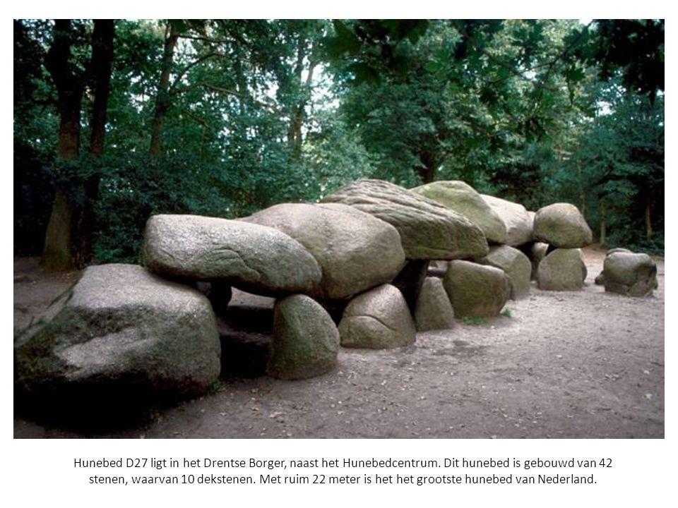 Hunebed D27 ligt in het Drentse Borger, naast het Hunebedcentrum