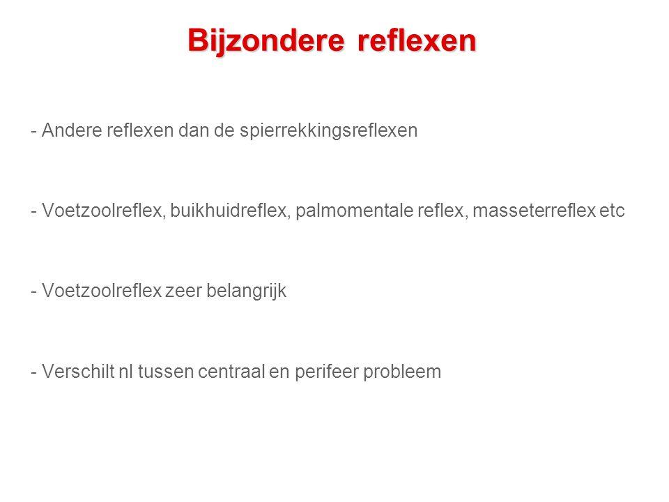 Bijzondere reflexen - Andere reflexen dan de spierrekkingsreflexen