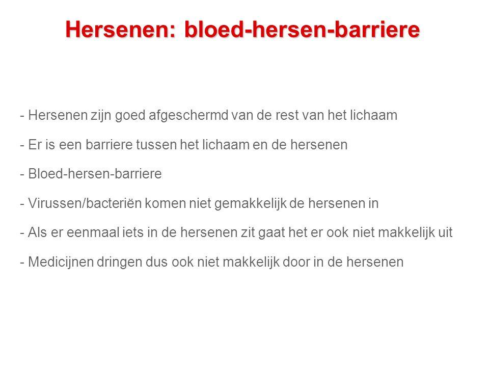 Hersenen: bloed-hersen-barriere