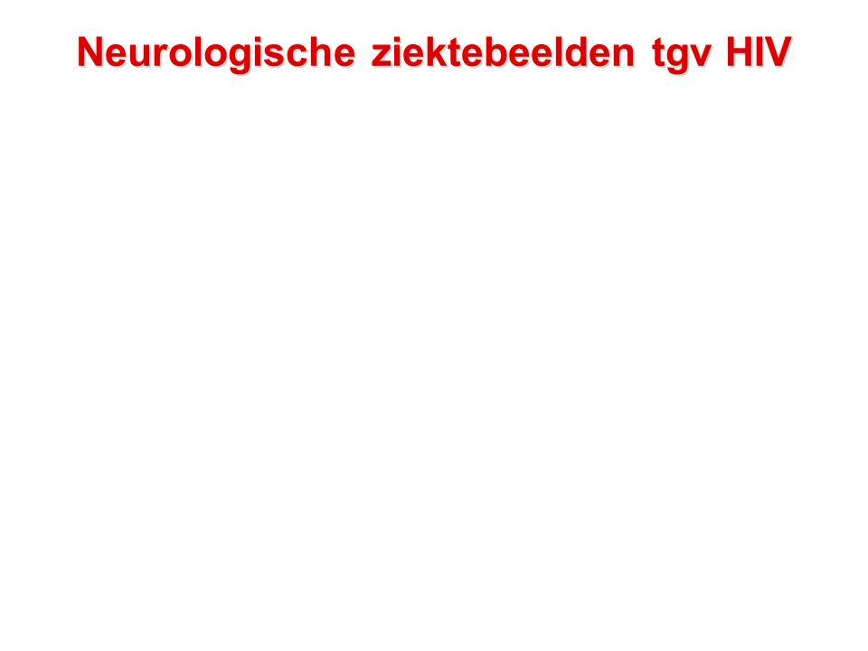 Neurologische ziektebeelden tgv HIV