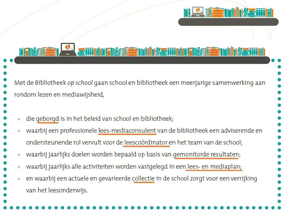 Dan nu de inhoud, waar hebben we het ook alweer over met de Bibliotheek op school.