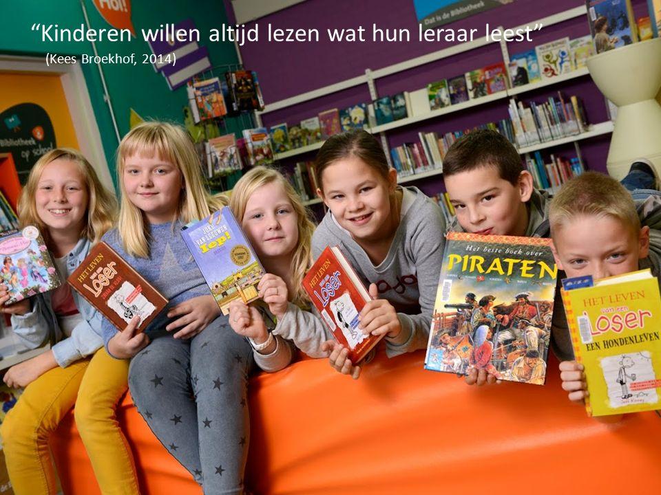 Kinderen willen altijd lezen wat hun leraar leest
