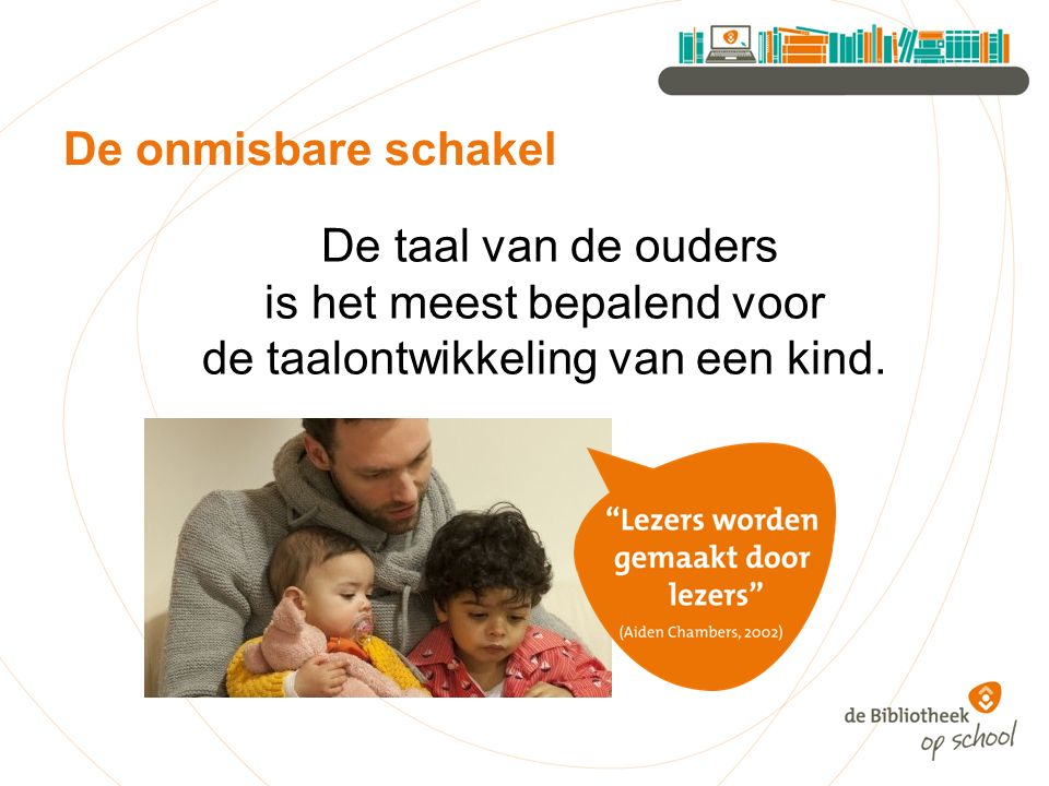 De onmisbare schakel De taal van de ouders is het meest bepalend voor de taalontwikkeling van een kind.