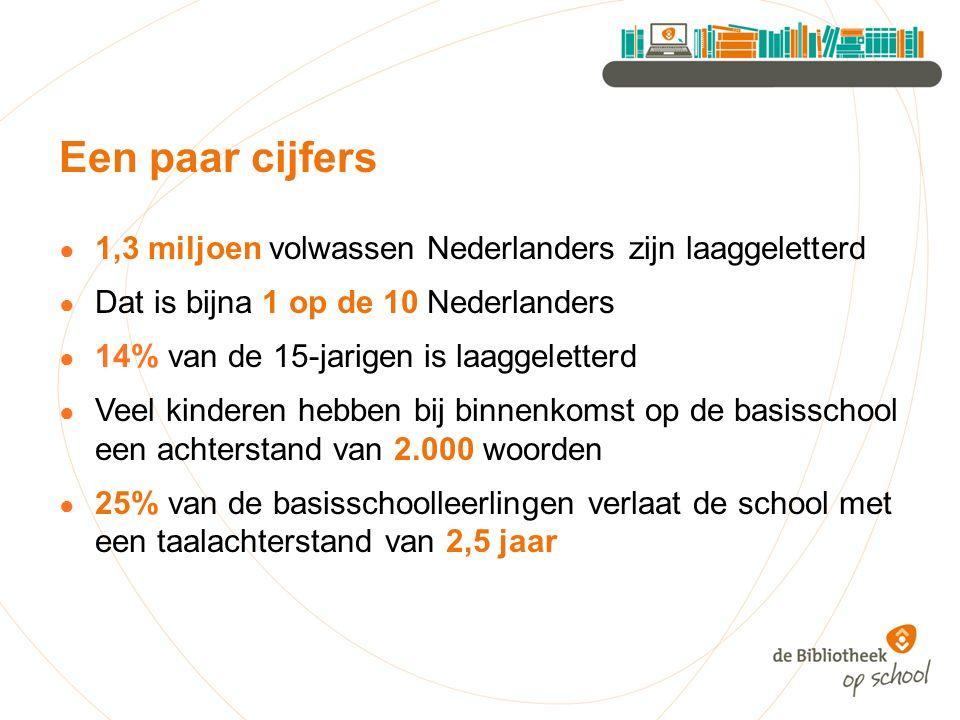 Een paar cijfers 1,3 miljoen volwassen Nederlanders zijn laaggeletterd