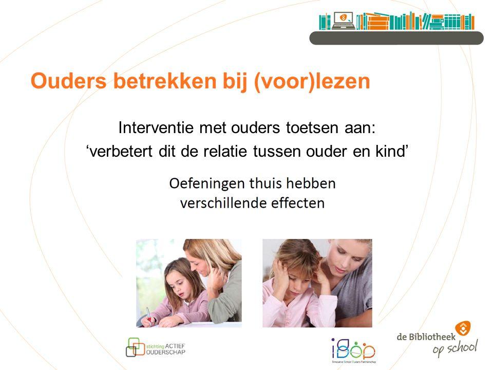 Ouders betrekken bij (voor)lezen