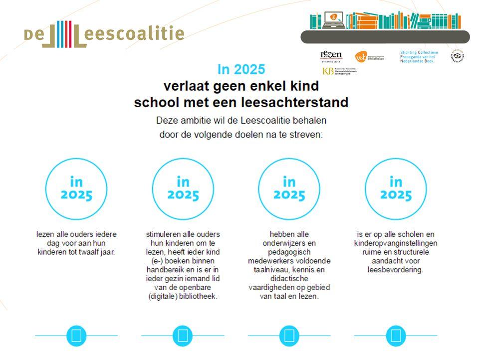 De Leescoalitie is opgericht in 2012 en bestaat uit Stichting Lezen, de Stichting Collectieve Propaganda van het Nederlandse Boek (CPNB), Sectorinstituut Openbare Bibliotheken (SIOB), de Vereniging Openbare Bibliotheken en Stichting Lezen & Schrijven.