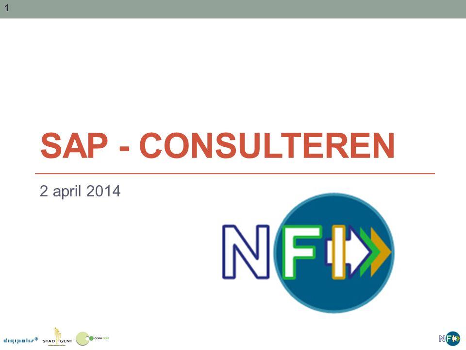 SAP - Consulteren 2 april 2014