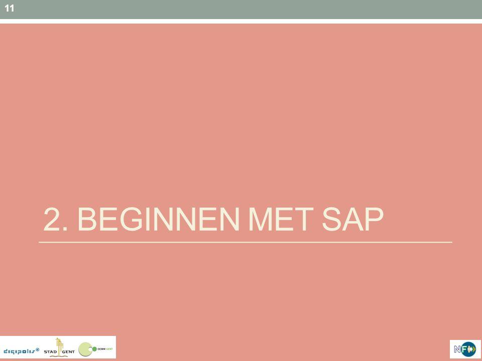 2. BEginnen met SAP