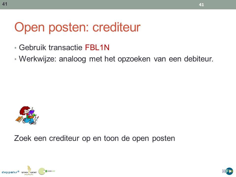 Open posten: crediteur