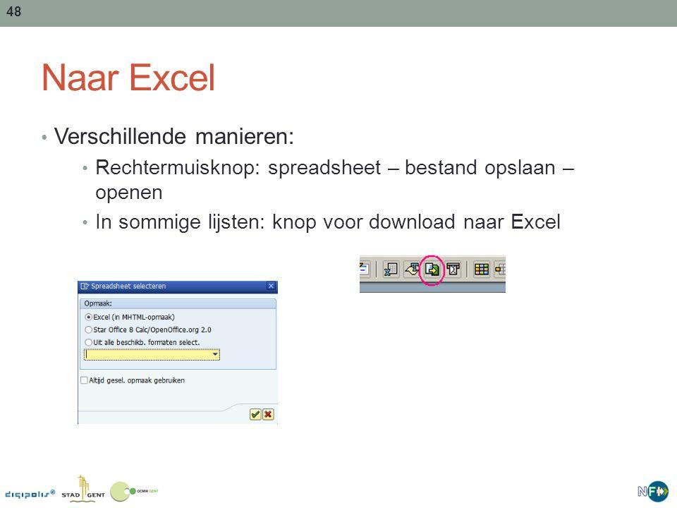 Naar Excel Verschillende manieren: