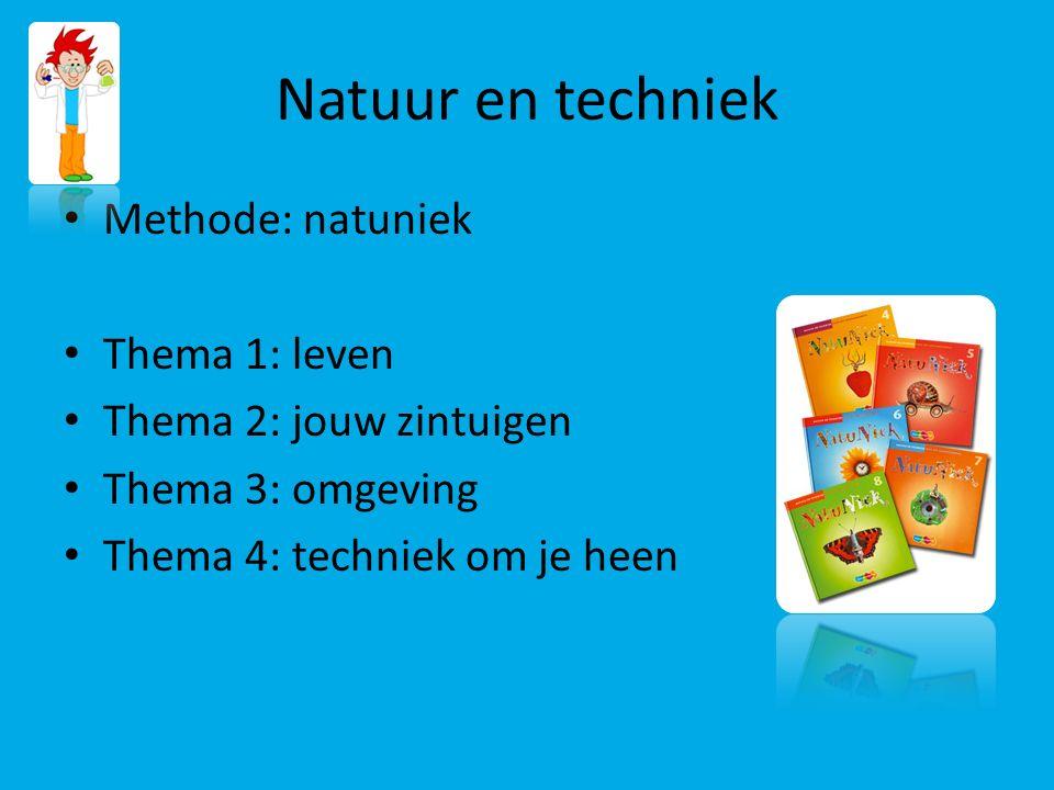 Natuur en techniek Methode: natuniek Thema 1: leven