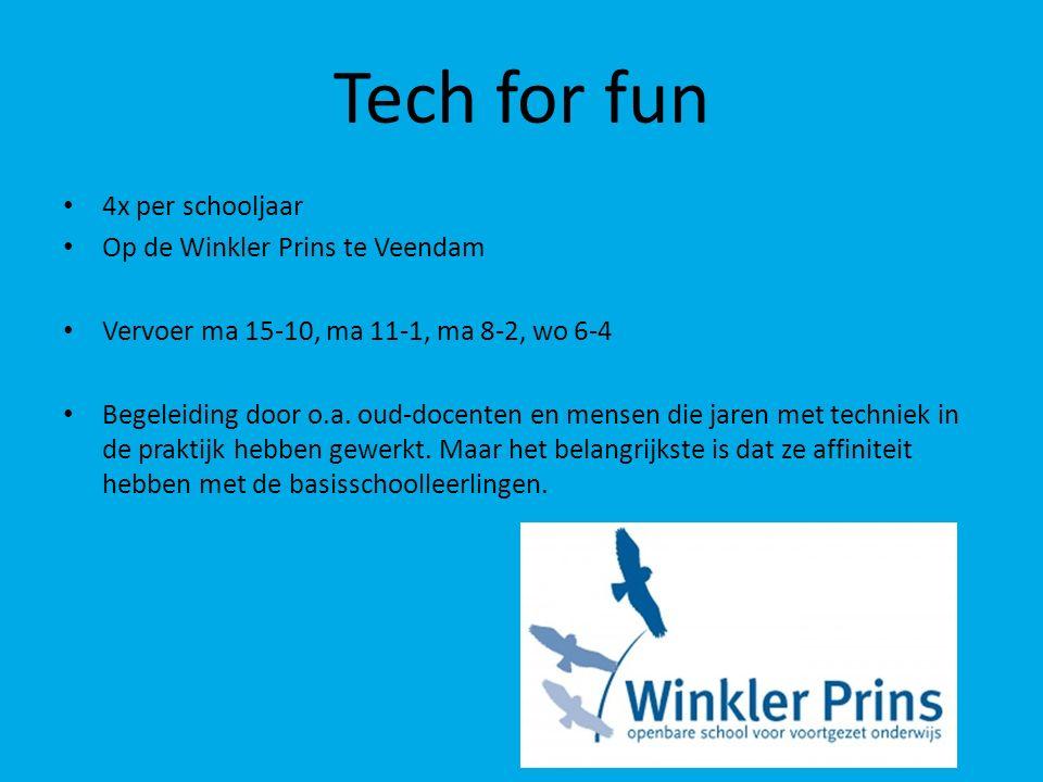 Tech for fun 4x per schooljaar Op de Winkler Prins te Veendam