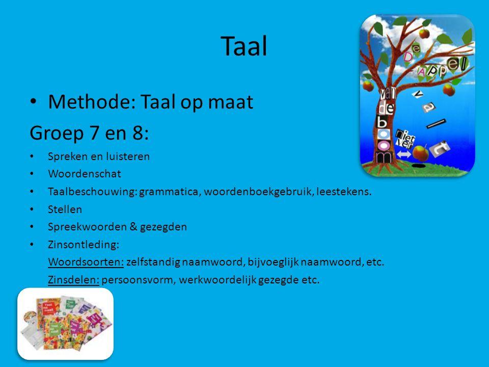 Taal Methode: Taal op maat Groep 7 en 8: Spreken en luisteren