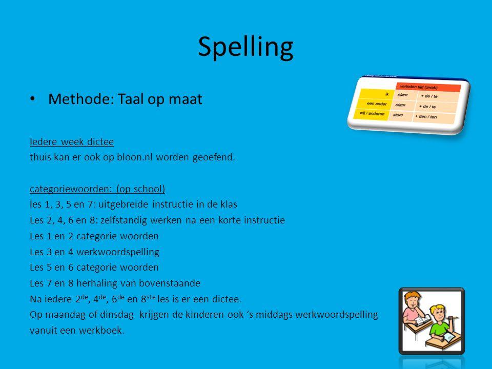 Spelling Methode: Taal op maat Iedere week dictee