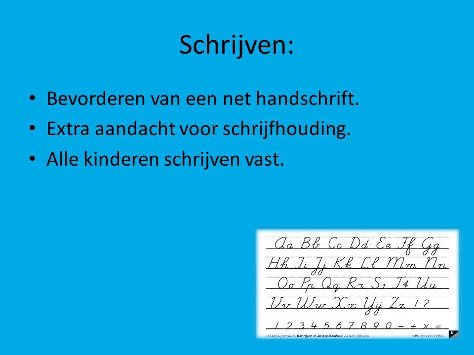 Schrijven: Bevorderen van een net handschrift.