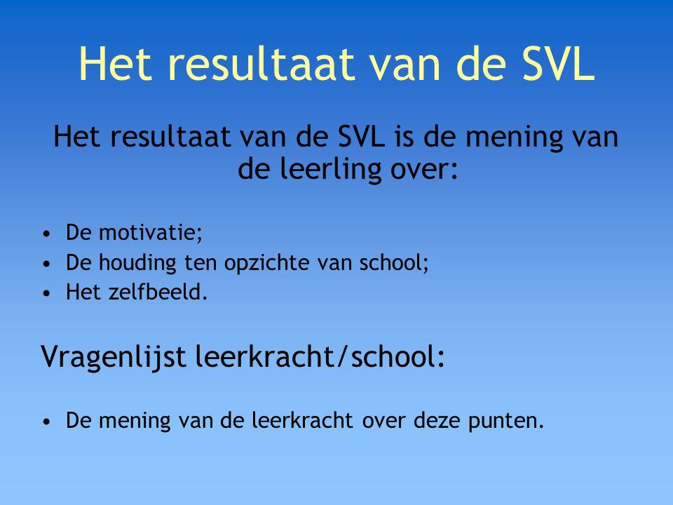 Het resultaat van de SVL