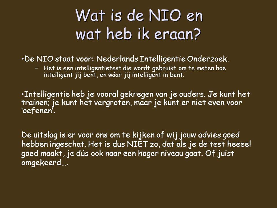 Wat is de NIO en wat heb ik eraan