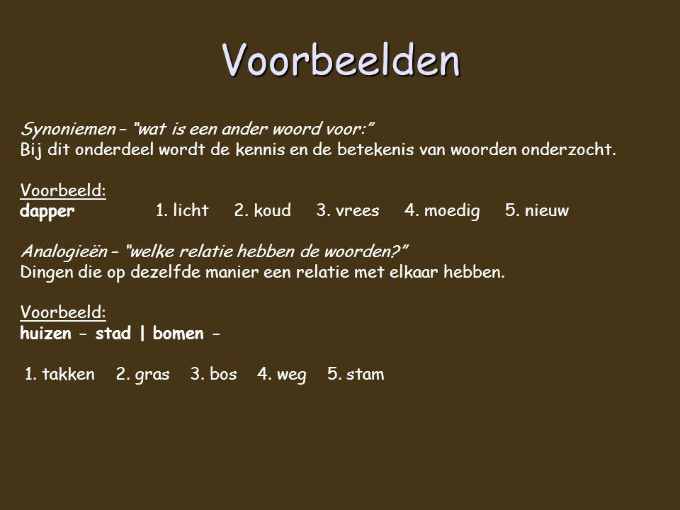 Voorbeelden Synoniemen – wat is een ander woord voor: