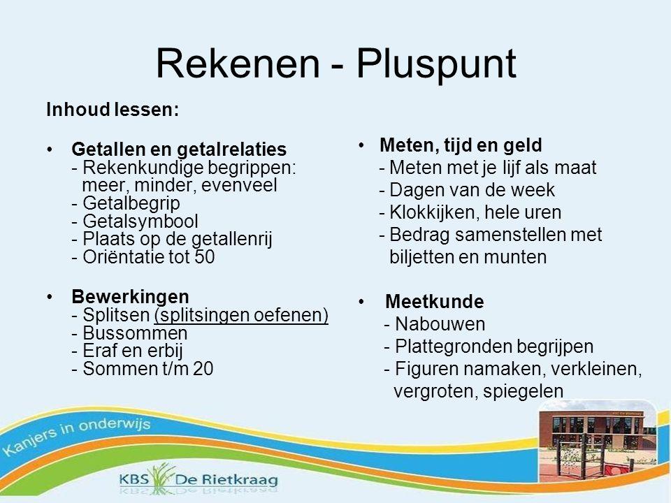 Rekenen - Pluspunt Inhoud lessen:
