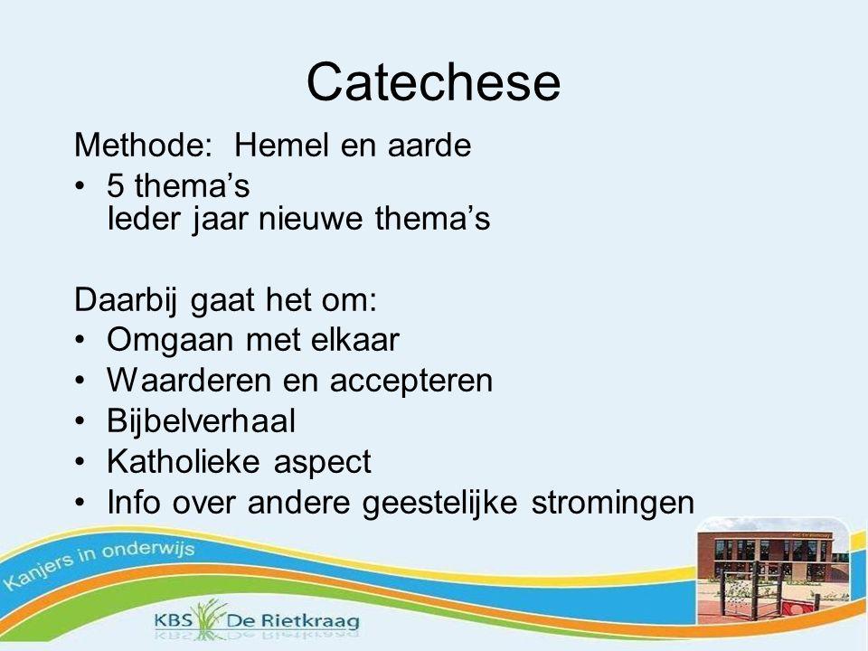 Catechese Methode: Hemel en aarde 5 thema's Ieder jaar nieuwe thema's