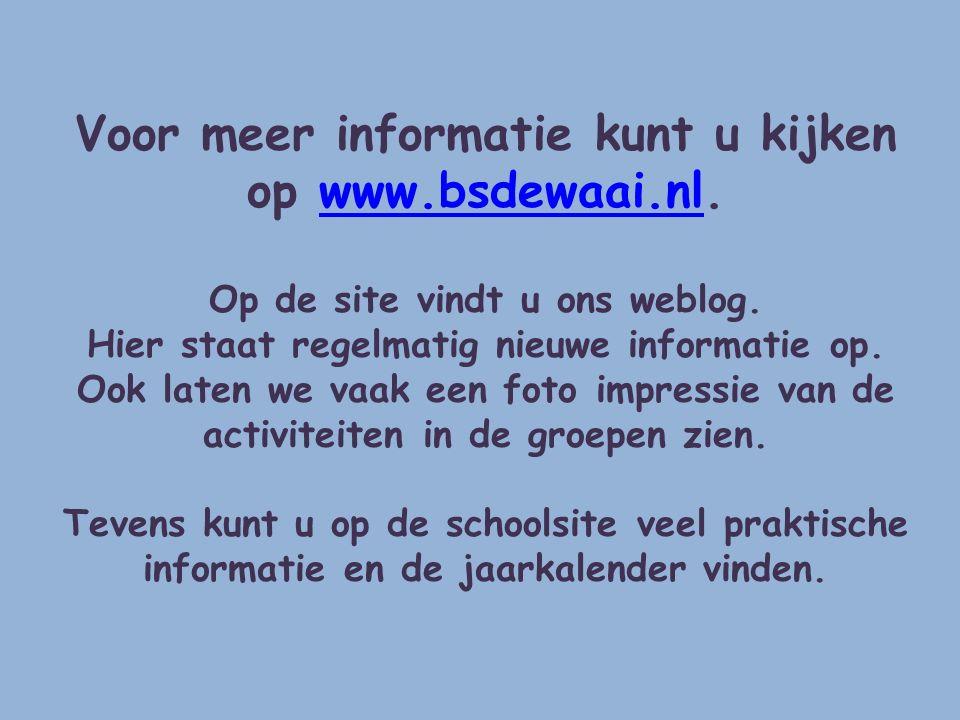 Voor meer informatie kunt u kijken op www.bsdewaai.nl.