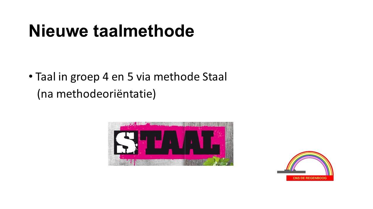 Nieuwe taalmethode Taal in groep 4 en 5 via methode Staal