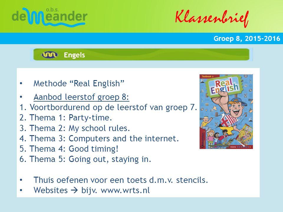 Methode Real English Aanbod leerstof groep 8: