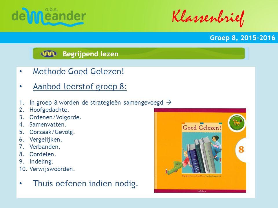 Aanbod leerstof groep 8: