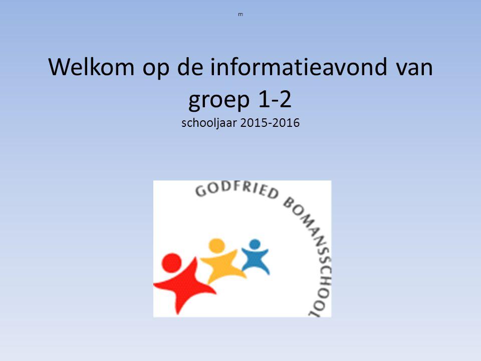m Welkom op de informatieavond van groep 1-2 schooljaar 2015-2016
