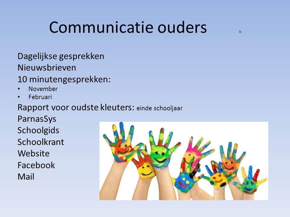 Communicatie ouders b Dagelijkse gesprekken Nieuwsbrieven