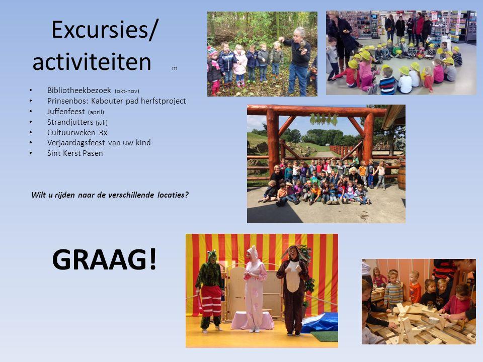 Excursies/ activiteiten m
